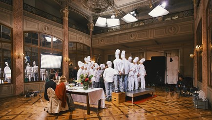 Filming in the theater hall - service production in Croatia