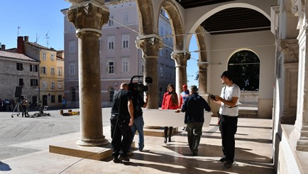 Filming in Croatia - historic building